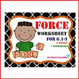 Force Worksheet for G. 1-3