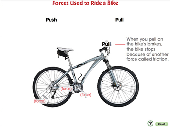 Force: Forces Used to Ride a Bike - NOTEBOOK Gr. 5-8