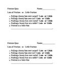 Friction Quiz
