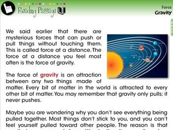 Force: Gravity - NOTEBOOK Gr. 5-8