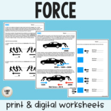 Force - Guided Practice - PDF & Digital Versions