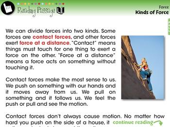 Force: Kinds of Force - NOTEBOOK Gr. 5-8