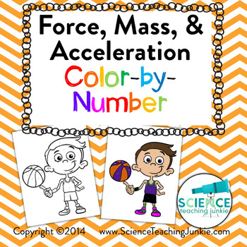 Force, Mass, & Acceleration Color-by-Number
