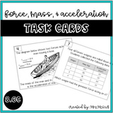 Force, Mass, and Acceleration/Newton's 2nd Law Task Cards