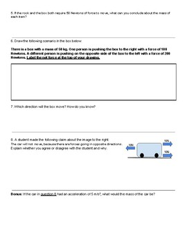 Force, Mass and Acceleration Assessment