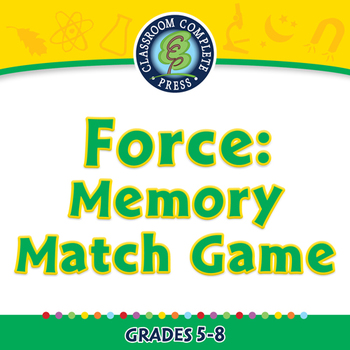Force: Memory Match Game - NOTEBOOK Gr. 5-8