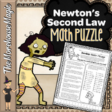 NEWTON'S 2nd LAW, FORCE, MASS, & ACCELERATION MATH PUZZLE