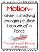 Force & Motion Anchor Chart Set