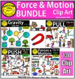 Force & Motion Clip Art BUNDLE   Commercial Use