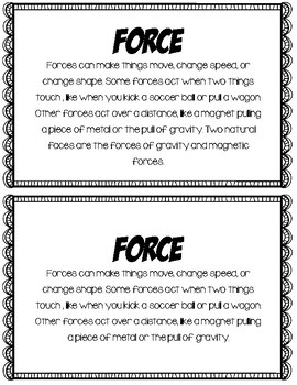 Force & Motion Booklet
