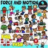 Force & Motion Clip Art Bundle {Educlips Clipart}