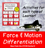 Force & Motion Differentiation Stations