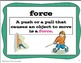 Force & Motion Essential Science Vocabulary Pack