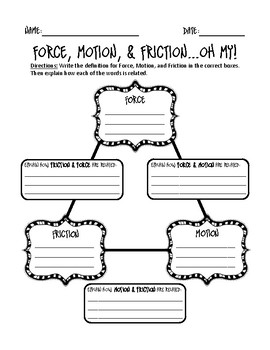 Force, Motion, & Friction...Oh my!