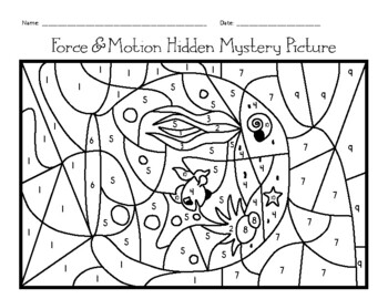 Force & Motion Hidden Mystery Picture