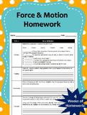 1 Month of Force & Motion Homework