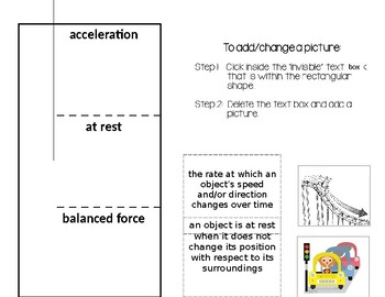 Force & Motion Interactive Notebook Activity