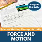 Force & Motion- Writing Prompt Activity- Distance Learning