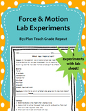 Force & Motion Lab Experiments