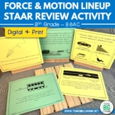 Force & Motion Lineup STAAR Review Activity