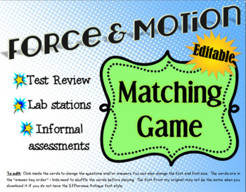 Force & Motion Matching Game
