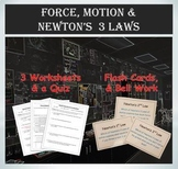 Force and Motion (Newton's 3 Laws of Motion) - Flash Cards & More
