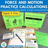 Force & Motion Practice Calculations STAAR Review