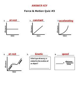 Force & Motion Quiz #3