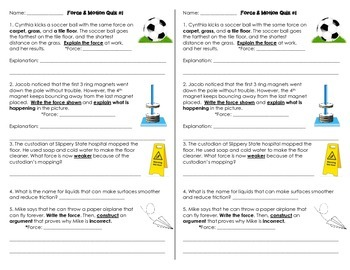 Force & Motion Quiz1