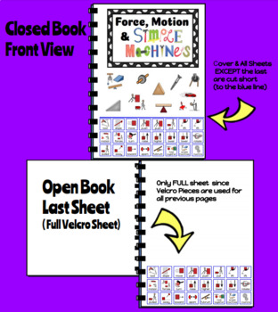 Force, Motion & Simple Machines Interactive Picture Symbol Book (Autism/SPED)