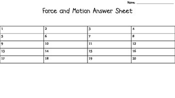 Force, Motion, & Simple Machines Task Cards