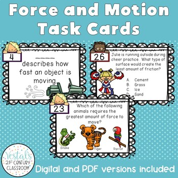 Force & Motion Task Cards