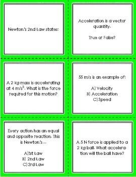 Force & Motion Task Cards