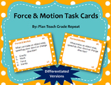 Force & Motion Task Cards (Differentiated)