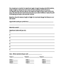 Force & Motion Test Track Response Sheet