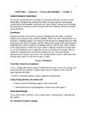 Force & Motion Unit Plan