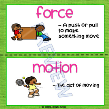 Force & Motion: Using Content Vocabulary