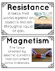 Force & Motion Vocabulary Posters