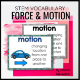 Force & Motion Vocabulary Words   Digital & Printable
