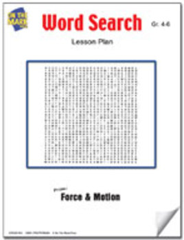 Force & Motion Word Search Lesson Gr. 4-6