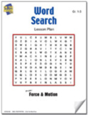 Force & Motion Word Search Lesson Grades 1-3