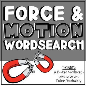 Force/Motion Wordsearch