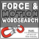 Force/Motion Wordsearch - 3.6A