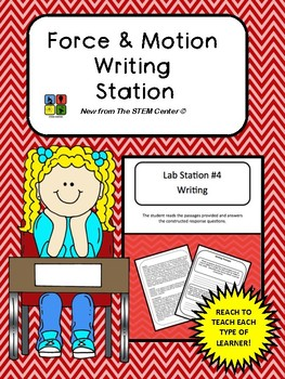 Force & Motion Writing Station
