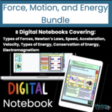 Force, Motion, and Energy Digital Interactive Notebook Bundle   8 Notebooks