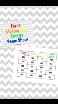 Force, Motion, and Energy Game Show Review (PowerPoint)