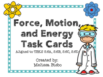Force, Motion, and Energy Task Cards