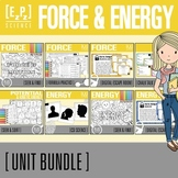 Force, Motion and Energy Science BIG Unit Bundle