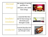 Force, Motion and Energy Vocabulary Sort