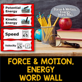 Force, Motion, and Energy Word Wall Cards